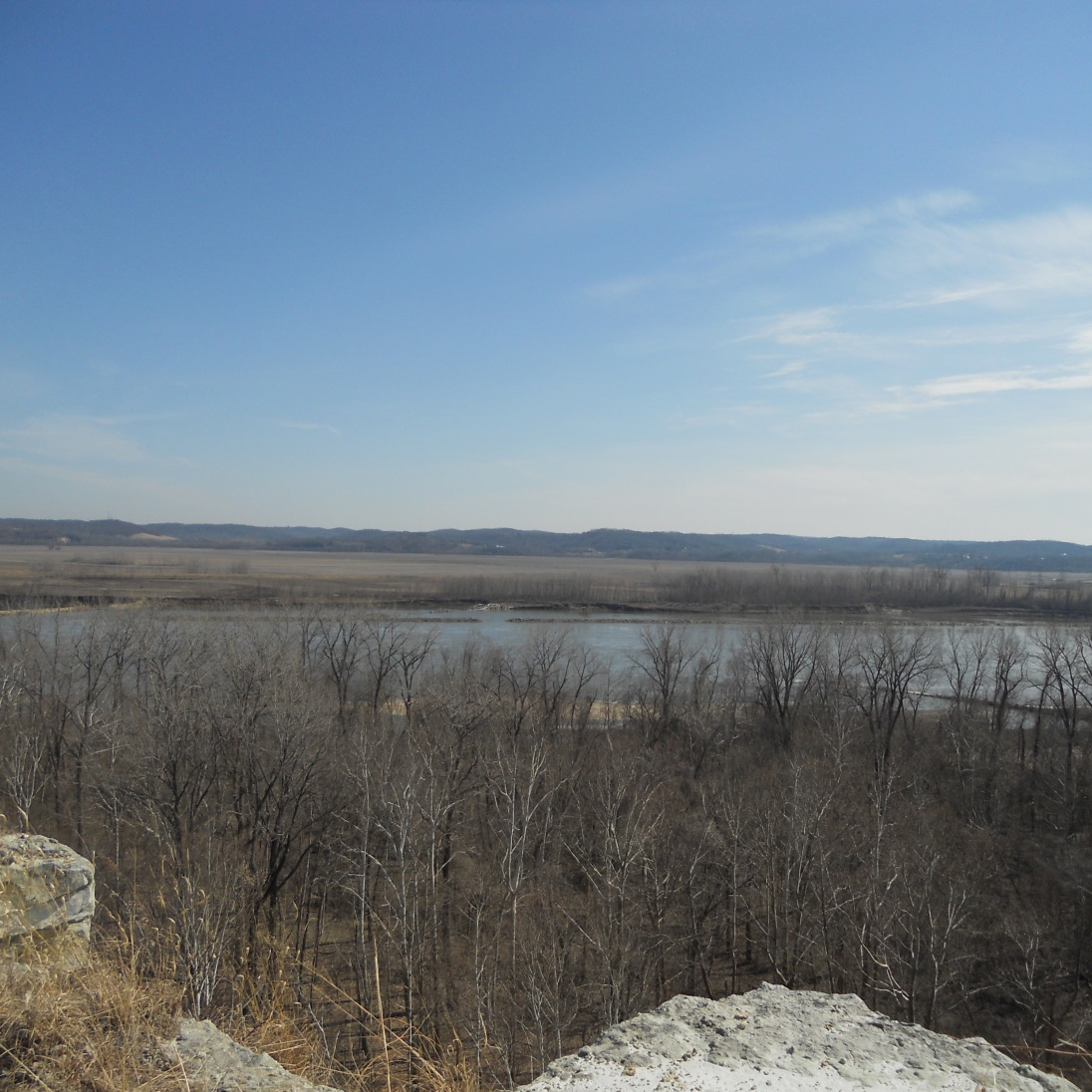 A view of the Missouri River valley from Klondike Park in Augusta, MO.