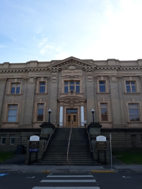 I love the architecture of old courthouses, like this one in downtown Astoria, OR.