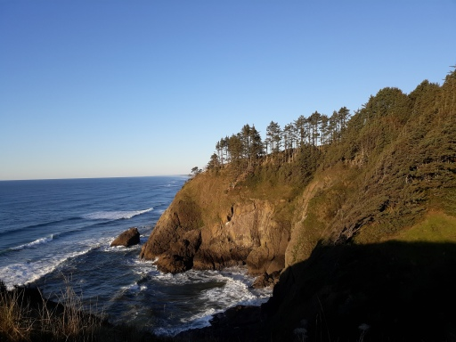 Cape Disappointment state park in Ilwaco, WA. offers stunning views of the coast and cliffs.